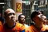 New inmates in Mandaluyong City Jail listen to an orientation on their rights in the penal system of the Philippines.