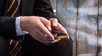 School Teenager on a Smart Phone.