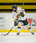 9 February 2008: University of Vermont Catamounts' defenseman Jackie Thode, a Sophomore from Aurora, CO, in action against the Boston University Terriers at Gutterson Fieldhouse in Burlington, Vermont. The Terriers shut out the Catamounts 2-0 in the Hockey East matchup...Mandatory Photo Credit: Ed Wolfstein Photo