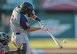 29 July 2016: Brooklyn Cyclones infielder Colby Woodmansee in action against the Vermont Lake Monsters at Centennial Field in Burlington, Vermont. The Lake Monsters fell to the Cyclones 8-5 in NY Penn League action. Mandatory Credit: Ed Wolfstein Photo *** RAW (NEF) Image File Available ***