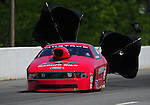 May 5, 2012; Commerce, GA, USA: NHRA pro stock driver Grace Howell during qualifying for the Southern Nationals at Atlanta Dragway. Mandatory Credit: Mark J. Rebilas-
