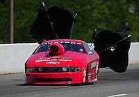 May 5, 2012; Commerce, GA, USA: NHRA pro stock driver Grace Howell during qualifying for the Southern Nationals at Atlanta Dragway. Mandatory Credit: Mark J. Rebilas-