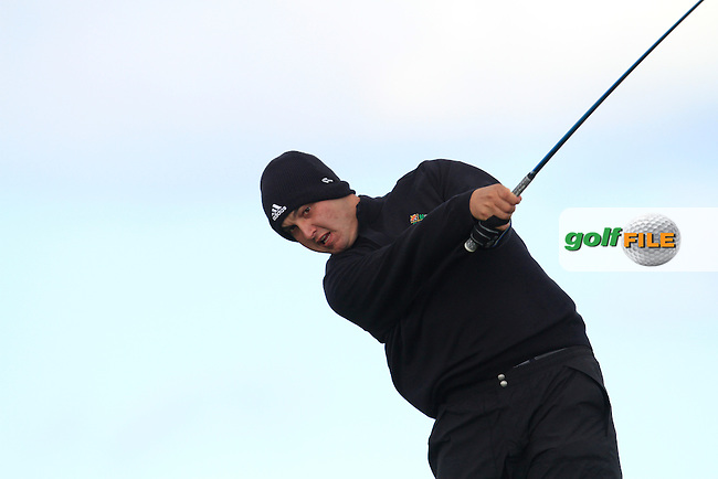 Luis Thiele (Brazil) on the 14th tee during the Round 1 of The Irish Amateur Open Championship in The Royal Dublin Golf Club on Thursday 8th May 2014.<br /> Picture:  Thos Caffrey / www.golffile.ie