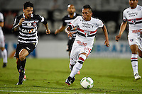 Orlando, FL - Saturday Jan. 21, 2017: São Paulo midfielder Cueva (10) is pressured by Corinthians right back Fagner (23) during the second half of the Florida Cup Championship match between São Paulo and Corinthians at Bright House Networks Stadium. The game ended 0-0 in regulation with São Paulo defeating Corinthians 4-3 on penalty kicks