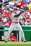 26 September 2010: Atlanta Braves infielder  Freddie Freeman in action against the Washington Nationals at Nationals Park in Washington, DC. The Nationals defeated the pennant-seeking Braves 4-2 to take the rubber match of their 3-game series. Mandatory Credit: Ed Wolfstein Photo