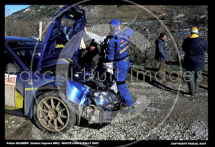 solberg petter subaru impreza wrc monte carlo rallye 2003