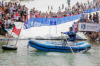 """Cushing Classic at Squaw Valley 22"" - Photograph of the safety boat during the Cushing Classic at Squaw Valley, USA."