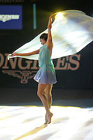 Irina Tchachina of Russia performs handsfree with chiffon during gala at finish of World Championships in Baku, Azerbaijan on October 9, 2005. (Photo by Tom Theobald)<br />