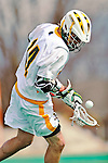 10 April 2011: University of Vermont Catamount midfielder Thomas Galvin, a Sophomore from Cockeysville, MD, in action against the University at Albany Great Danes on Moulton Winder Field in Burlington, Vermont. The Catamounts defeated the visiting Danes 11-6 in America East play. Mandatory Credit: Ed Wolfstein Photo