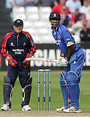 Varun Chopra of Essex (right) - Essex Eagles vs Middlesex Crusaders - Friends Provident Trophy at Ford County Ground, Chelmsford - 20/05/07 - MANDATORY CREDIT:  Gavin Ellis / TGSPHOTO - IMAGES USED WILL BE INVOICED AT STANDARD RATES