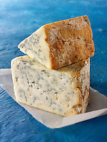 British Blue Cheese Photos -Creamy Stilton ( bottom) Stilton above. Funky Stock Photos