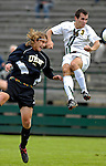 17 October 2007: The University of Vermont Catamounts' Rem Kielman, a Sophomore from Hinesburg, VT, in action against the University of Maryland Retreivers at Historic Centennial Field in Burlington, Vermont. The Catamounts and Retrievers battled to a scoreless, double-overtime tie...Mandatory Photo Credit: Ed Wolfstein Photo