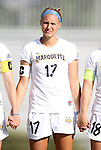 07 September 2012: Marquete's Rachel Brown. The University of North Carolina Tar Heels defeated the Marquette University Golden Eagles 4-0 at Koskinen Stadium in Durham, North Carolina in a 2012 NCAA Division I Women's Soccer game.