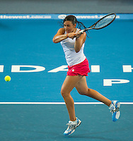 MARION BARTOLI (FRA) against ANABEL MEDINA GARRIGUES (ESP) in the Group stage of the HOPMAN CUP. France beat Spain 6-2 6-4..05/01/2012, 5th January 2012, 05.01.2012..The HOPMAN CUP, Burswood Dome, Perth, Western Australia, Australia.@AMN IMAGES, Frey, Advantage Media Network, 30, Cleveland Street, London, W1T 4JD .Tel - +44 208 947 0100..email - mfrey@advantagemedianet.com..www.amnimages.photoshelter.com.