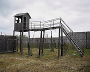 A watchtower in the maximum security zone. Perm province, Russia 2015