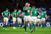 Rob Kearney of Ireland has a word with his back-line. RBS Six Nations match between England and Ireland on February 27, 2016 at Twickenham Stadium in London, England. Photo by: Patrick Khachfe / Onside Images