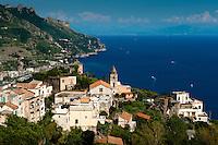Torello, historic village beneath Ravello, overlooking the spectacular Amalfi Coast, Italy