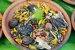 South America, Bolivia, La Paz. Dried herbs from the Witch Doctor's Market of La Paz.