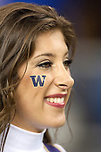Sept 01, 2012:  Washington cheerleader Megan Florer against San Diego State.  Washington defeated San Diego State 21-12 at CenturyLink Field in Seattle, Washington...