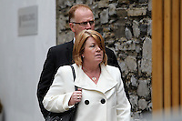 14/10/11 Lucia Dowd and husband David at an inquiry into alleged professional misconduct over care he provided by Dr Laszio at the Have Cosmetic Surgery in Stillorgan, at the medical council in Dublin. Pictures:Arthur Carron/Collins