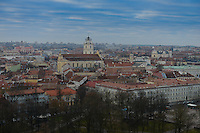 Vilnius Old Town Panorama From Castle Complex, Vilnius, Lithuania