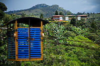 A cableway is seen in the town of Jardin in Antioquia August 1, 2012. Photo by Eduardo Munoz Alvarez / VIEW.