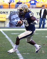 Lafayette Pitts returns a kickoff for Pitt. The Pitt Panthers defeated the Gardner-Webb Runnin Bulldogs 55-10 at Heinz Field, Pittsburgh PA on September 22, 2012..