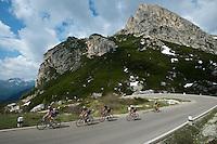 Passo di Falzarego summit.
