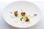 Crab: Dungeness crab with amaranth, lemon and cardamom