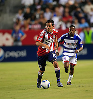 Chivas USA midfielder Jesus Padilla (10) looks to pass the ball  during the first half of game between Chivas USA and FC Dallas at the Home Depot Center in Carson CA on June 26 2010. FC Dallas 2, Chivas USA 1.