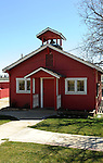 Old red California school house,