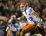 Florida quarterback Austin Appleby get sacked by Florida State's DeMarcus Walker in the second half of an NCAA college football game in Tallahassee, Fla., Saturday, Nov. 26, 2016. Florida State defeated Florida 31-13. (AP Photo/Mark Wallheiser)