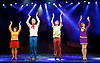 Scooby-Doo! Live Musical Mysteries <br /> at The Palladium, London, Great Britain <br /> press photocall <br /> 17th August 2016 <br /> <br /> <br /> <br /> Charlie Bull as Daphne <br /> Chris Warner Drake as Fred <br /> Rebecca Withers as Velma<br /> Charlie Haskins as Shaggy <br /> <br /> Photograph by Elliott Franks <br /> Image licensed to Elliott Franks Photography Services