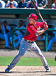 14 March 2014: Washington Nationals infielder Zach Walters at bat during a Spring Training game against the Detroit Tigers at Joker Marchant Stadium in Lakeland, Florida. The Tigers defeated the Nationals 12-6 in Grapefruit League play. Mandatory Credit: Ed Wolfstein Photo *** RAW (NEF) Image File Available ***