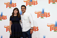 WESTWOOD, CA - OCTOBER 23: Zooey Deschanel, Jacob Pechenik at the premiere Of 20th Century Fox's 'Trolls' at Regency Village Theatre on October 23, 2016 in Westwood, California. Credit: David Edwards/MediaPunch
