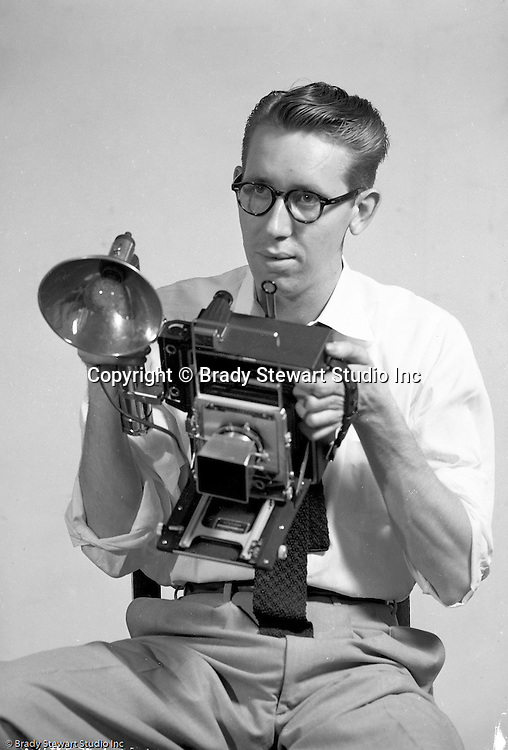Pittsburgh PA:  Brady Stewart Studio photographer Dave VanDeVeer.  Dave was another very accomplished photographer at the studio and worked from 1952 through 1968.  After leaving Brady Stewart Studio, Dave opened his own successful photographic studio in Pittsburgh.