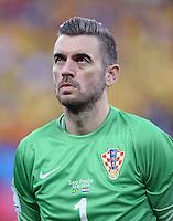 FUSSBALL WM 2014  VORRUNDE    Gruppe A    12.06.2014 Brasilien - Kroatien Torwart Stipe Pletikosa  (Kroatien)