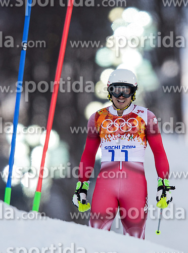 14.02.2014, Rosa Khutor Alpine Center, Krasnaya Polyana, RUS, Sochi 2014, Super- Kombination, Herren, Slalom, im Bild Mauro Caviezel (SUI) // Mauro Caviezel of Switzerland in action during the Slalom of the mens Super Combined of the Olympic Winter Games 'Sochi 2014' at the Rosa Khutor Alpine Center in Krasnaya Polyana, Russia on 2014/02/14. EXPA Pictures © 2014, PhotoCredit: EXPA/ Johann Groder