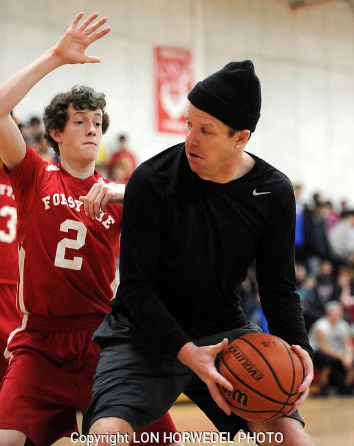 Forsythe Middle School 8th grade basketball team vs. Forsythe staff members. 2-14-14