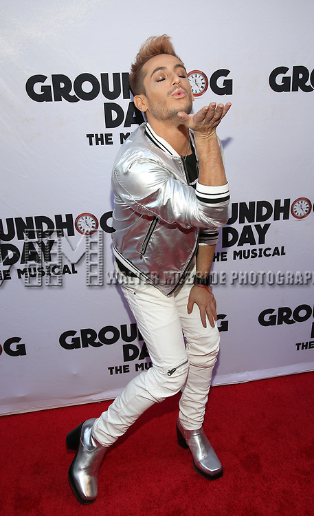 Frankie Grande attends the Broadway Opening Night performance of 'Groundhog Day' at the August Wilson Theatre on April 17, 2017 in New York City