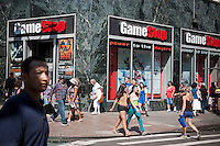 A Gamestop video game store in the Herald Square shopping district in New York on Tuesday, July 24, 2012. (© Richard B. Levine)