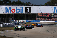 Although there were only 26 entries in 2009, traffic was still an issue at times around the Sebring circuit, particularly when a group of prototypes had to work their way past a slower GT entry.
