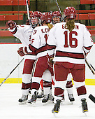 - The Harvard University Crimson defeated the St. Lawrence University Saints 8-3 (EN) to win their ECAC Quarterfinals on Saturday, February 26, 2011, at Bright Hockey Center in Cambridge, Massachusetts.