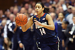 30 January 2012: Connecticut's Bria Hartley. The Duke University Blue Devils played the University of Connecticut Huskies at Cameron Indoor Stadium in Durham, North Carolina in an NCAA Division I Women's basketball game.