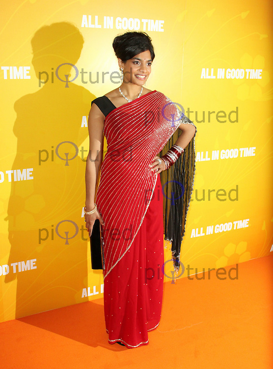 LONDON - MAY 08: Amara Karan attends the UK premiere of All In Good Time at BFI Southbank, London, UK, May 08 2012. (Photo by Brett D. Cove)