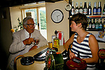 Laurie Lee author in his local pub ordering a lunchtime drink Slad Gloucestershire