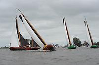 SKUTSJESILEN: GROU: SKS skûtsjesilen, Friese Sporten, 30-07-2011, Fryslân, skûtsjes Heerenveen, Grou, Leeuwarden, Sneek, ©foto Martin de Jong