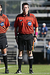 19 October 2014: Assistant Referee Aaron Gallagher. The Duke University Blue Devils hosted the University of North Carolina Tar Heels at Koskinen Stadium in Durham, North Carolina in a 2014 NCAA Division I Women's Soccer match. North Carolina won the game 3-0.
