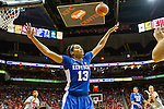 UK sophomore guard Bria Goss tries to defend against the in bound play of the Louisville Cardinals. in Louisville, Ky., on Sunday, December, 2, 2012. Photo by James Holt | Staff