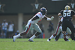 Ole Miss' Kentrell Lockett (40) in Nashville, Tenn. on Saturday, September 17, 2011. Vanderbilt won 30-7..
